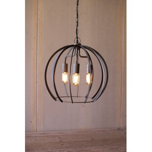 Rounds 3-Light Globe Pendant by Williston Forge