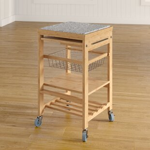 Ilana Kitchen Cart with Granite Top August Grove