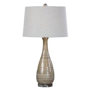 Rosas Embossed Ceramic 31 Table Lamp
