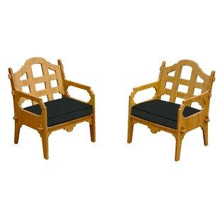 Loon Peak Burliegh Patio Chair with Cushi..