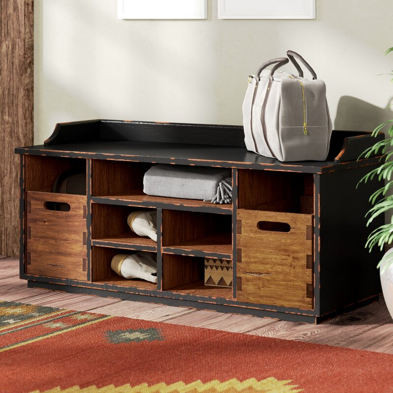 Loon Peak Windom Ridge Wood Storage Bench Amp Reviews Wayfair