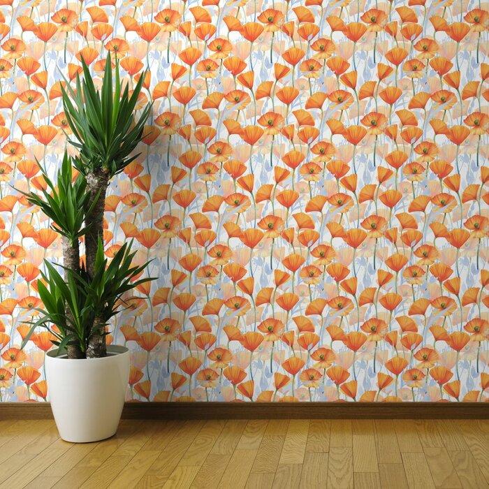 Widener+Poppy+Removable+Wallpaper+Roll