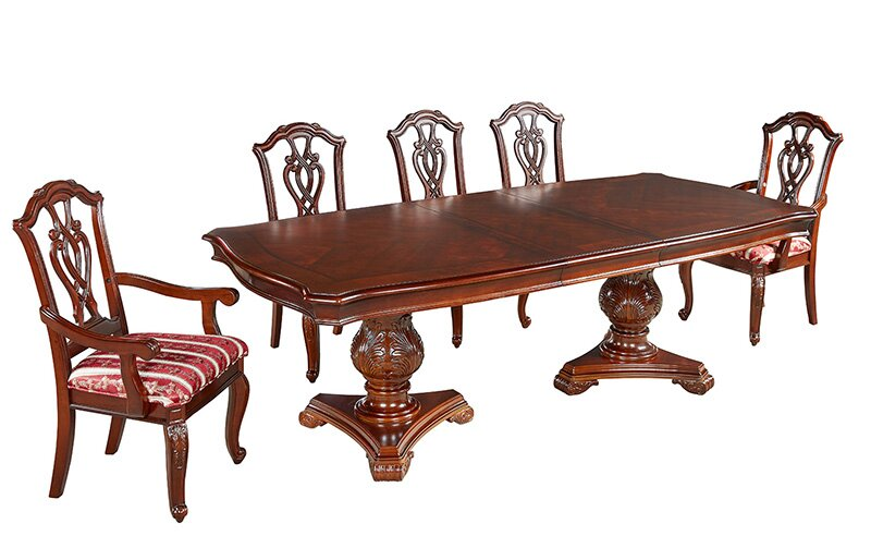 Cobbett Mahogany Dining Set With 6 Chairs