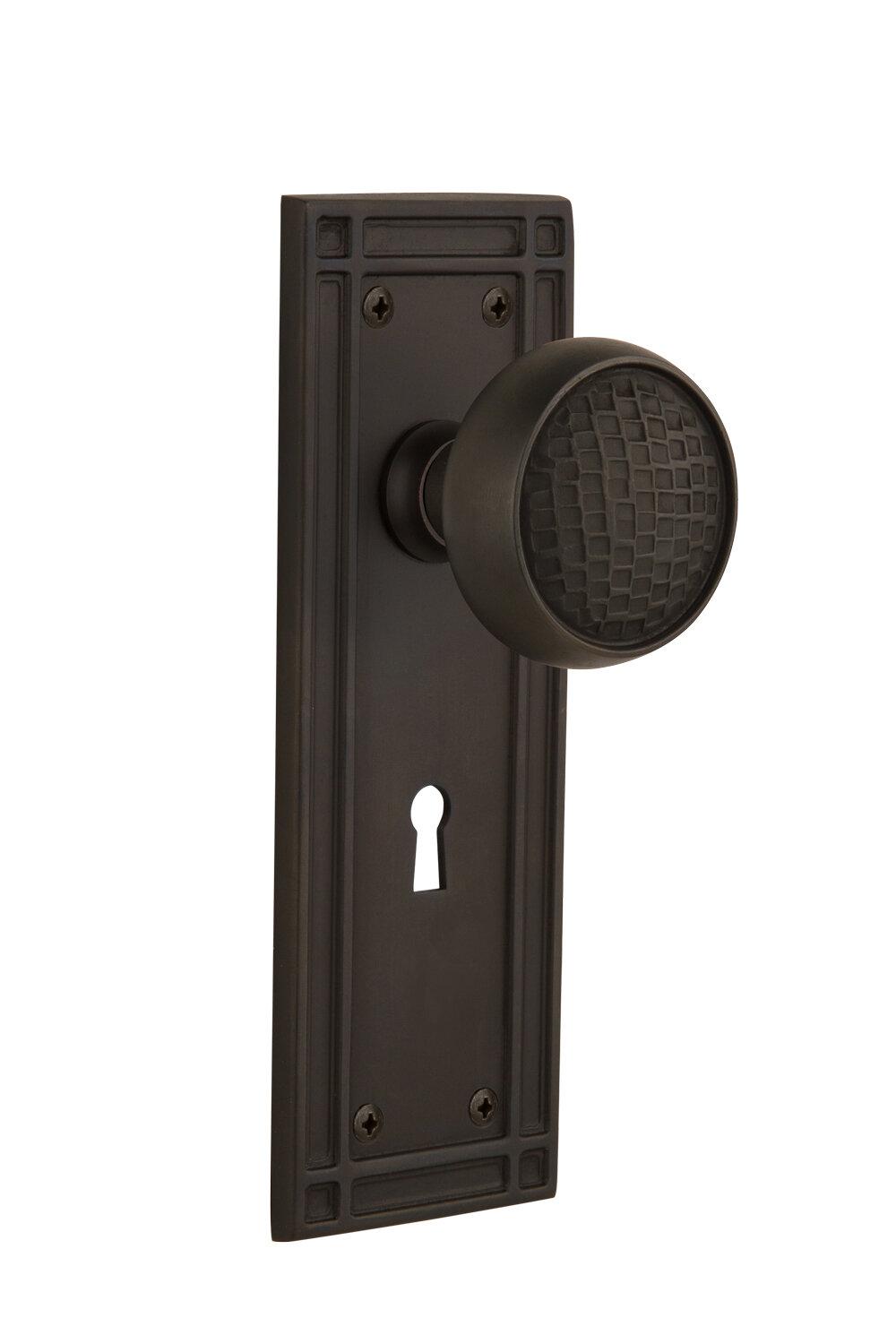 Nostalgic Warehouse Craftsman Single Dummy Door Knob With Keyhole Mission Long Plate Wayfair