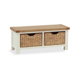 Longview Wicker Storage Hallway Bench By August Grove