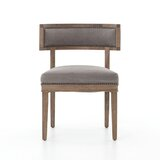 Mendelson Cotton Upholstered Side Chair in Gray by One Allium Way®
