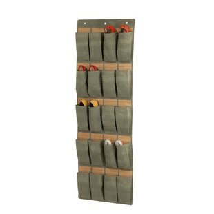 20-Pocket 24 Pair Overdoor Shoe Organizer by Bay Isle Home