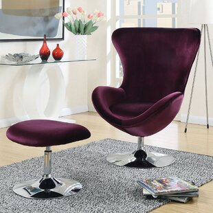 Ravenscourt Swivel Balloon Chair and Ottoman