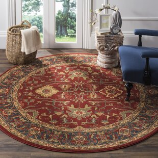 Pennypacker Red Area Rug by Astoria Grand