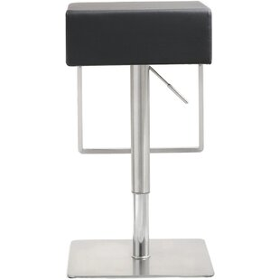 Hatmaker Adjustable Height Swivel Bar Stool by Orren Ellis Great price