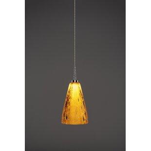 Zara 1-Light LED Cone Pendant by Bruck Lighting