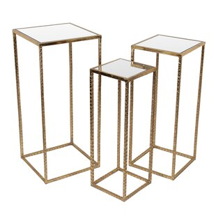 Poole 3 Piece Iron End Table Set by Mercer41