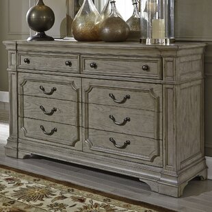 Canora Grey Beecroft 8 Drawer Double Dresser with Mirror