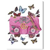 'Doll Memories - Butterflies Fashion and Glam' Wrapped Canvas Graphic Art Print on Canvas