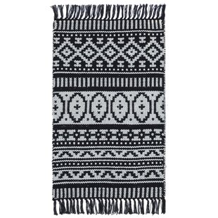 Compare Bruges Hand-Woven Black/White Area Rug ByBungalow Rose