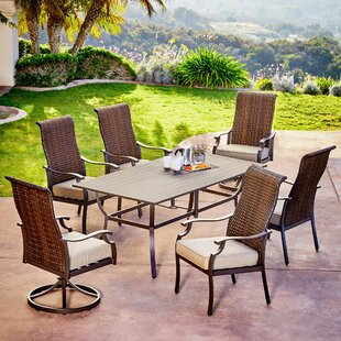 Bayou Breeze Kinlaw Rhone Valley 7 Piece Dining Set with Cushions