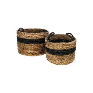 2 Piece Water Hyacinth Basket By Bay Isle Home
