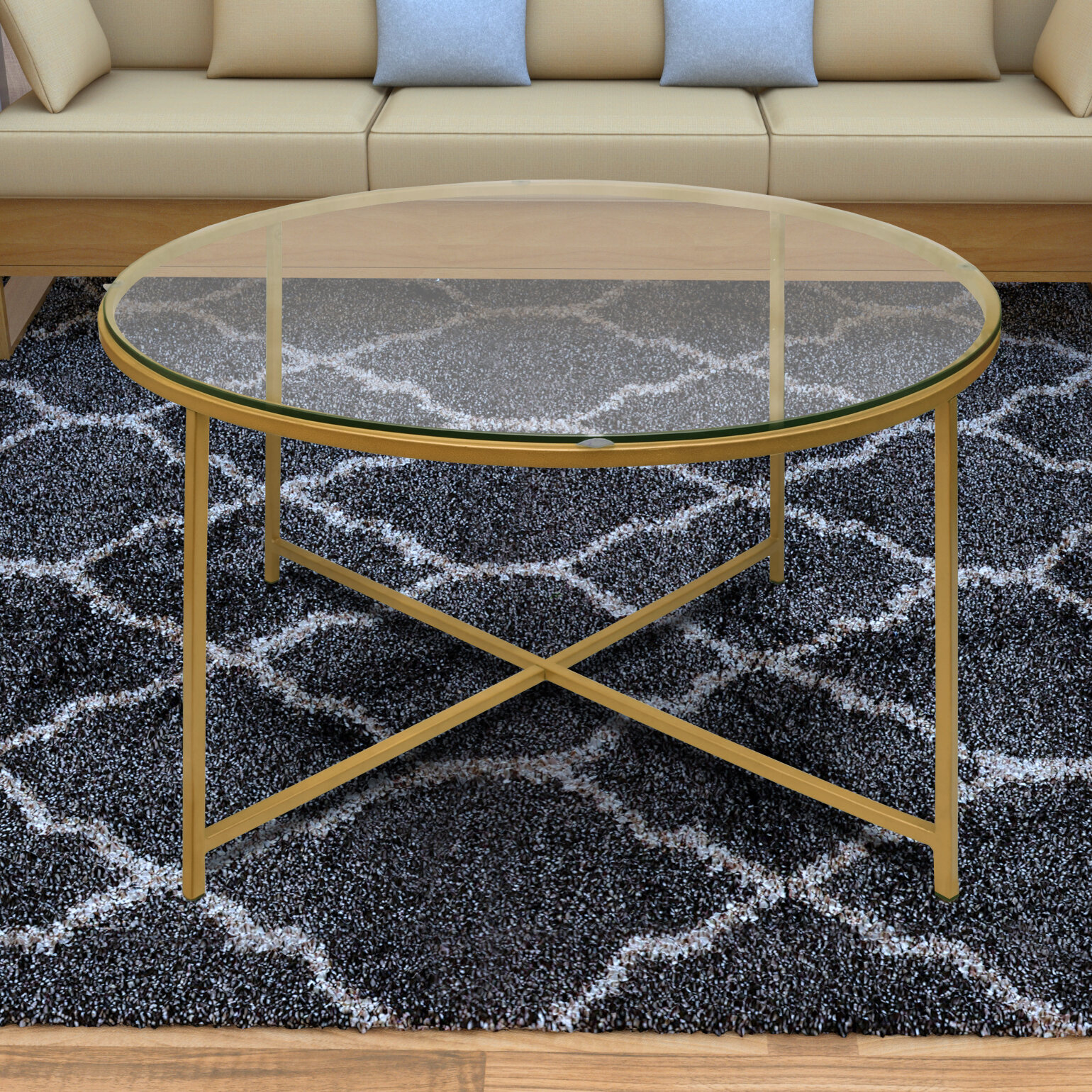 Mercer41 Dryer Round Metal Coffee Table With Tray Top Reviews Wayfair