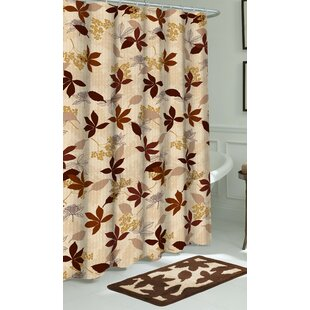 Blowing Leaves 3 Piece Bath Set + Hooks
