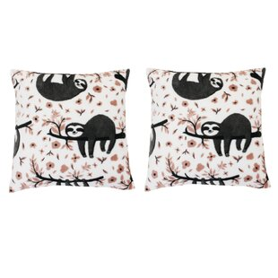 Brittain Sloth Throw Pillow (Set of 2)