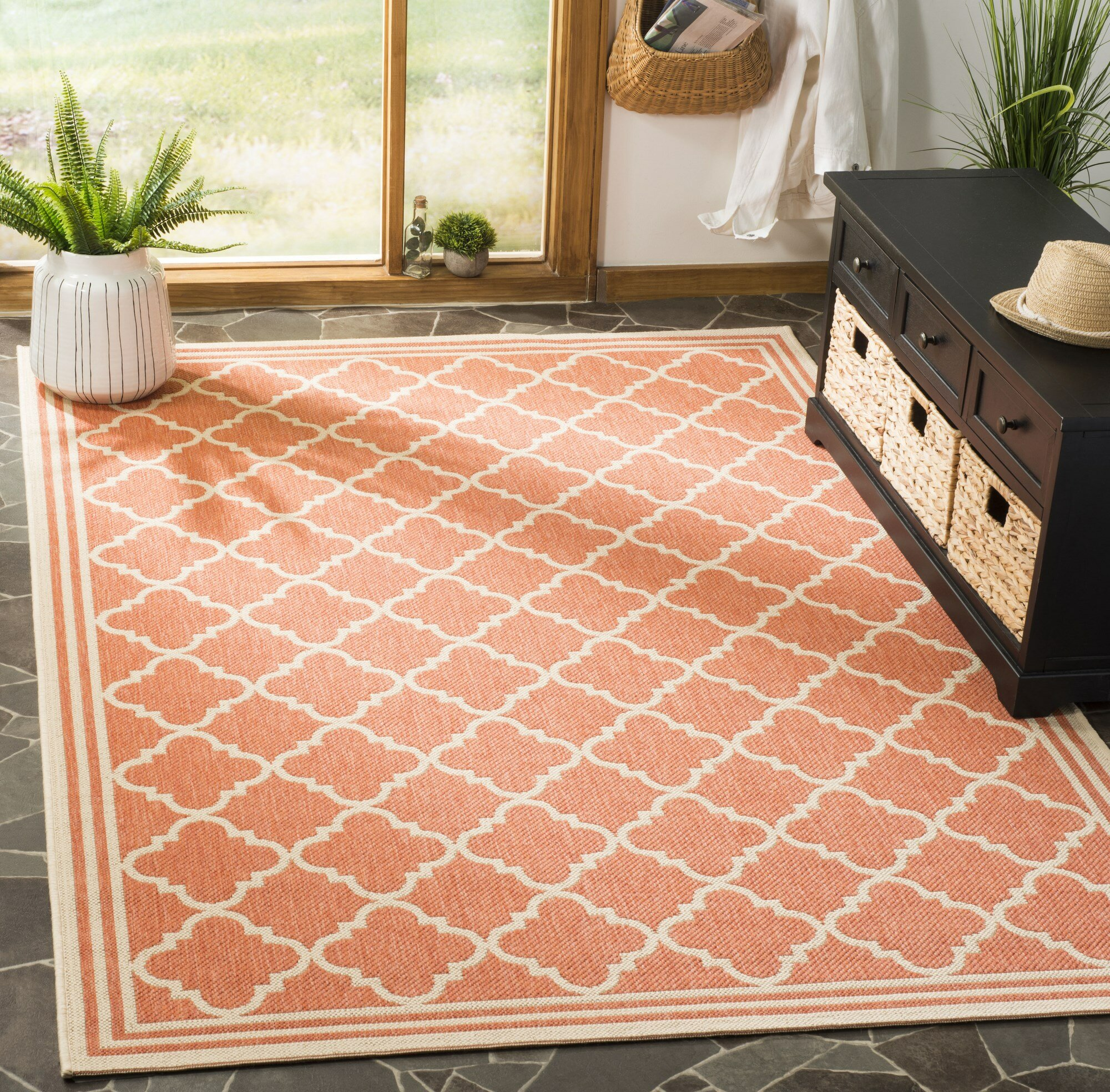 Darby Home Co Berardi Rust Cream Area Rug Reviews Wayfair