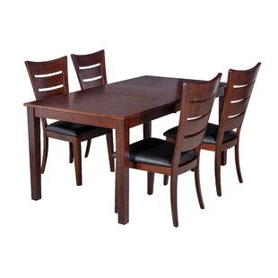 Boswell 5 Piece Solid Wood Dining Set by ..