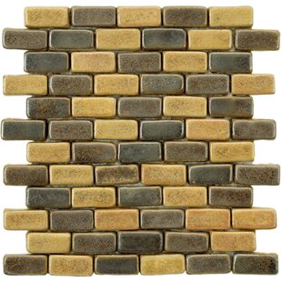 Review Greenwich Brick 0.75 x 2 Ceramic Mosaic Tile in Chocolate Brown/Ochre by EliteTile