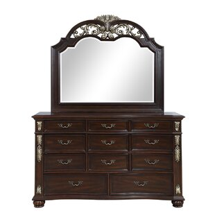 Wyona 11 Drawer Dresser with Mirror by Astoria Grand