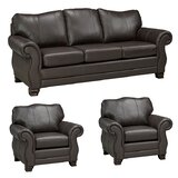 Jettie Leather 3 Piece Living Room Set by Fleur De Lis Living