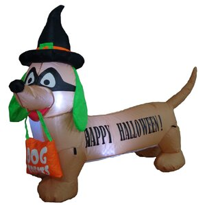 halloween inflatable dog indooroutdoor decoration - Blow Up Halloween Decorations