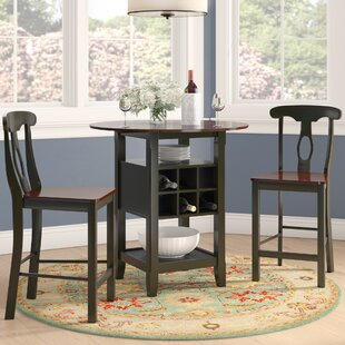 Belmont 3 Piece Counter Height Pub Table Set by Three Posts