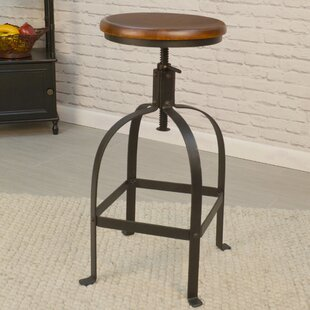 17 Stories Gisele Adjustable Height Swivel Bar Stool