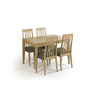 Review Izzie Extendable Dining Set With 4 Chairs