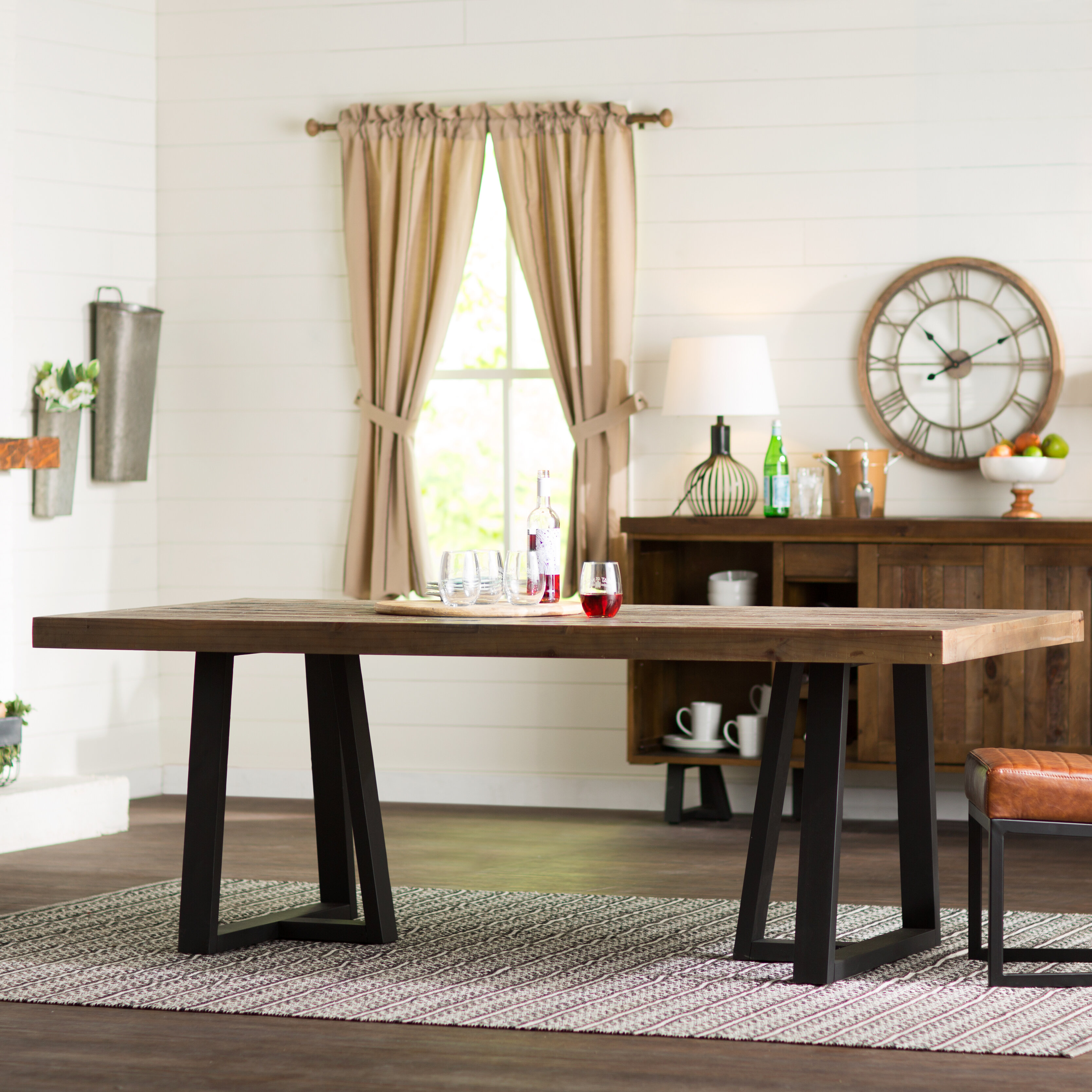 T j solid wood dining table reviews birch lane