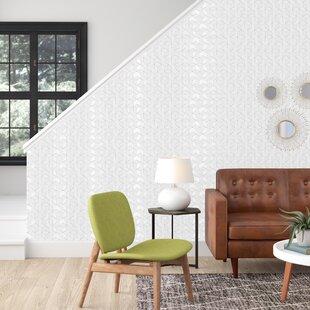 Rumsey Striped Hexagon 16 5 L X 20 5 W Geometric Peel And Stick Wallpaper Roll