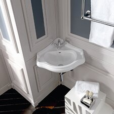 Retro Ceramic 16 1 Corner Bathroom Sink With Overflow