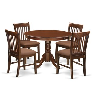Travis 5 Piece Dining Table August Grove