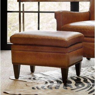 Jilian Leather Ottoman by Hooker Furniture