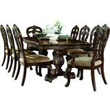 Chalus 9 Piece Extendable Dining Set by Astoria Grand