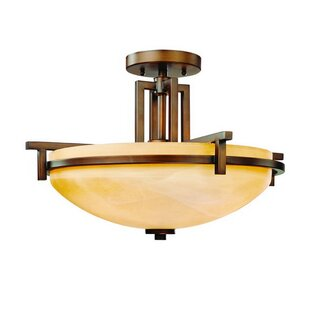 Loon Peak Albee 3-Light Semi Flush Mount