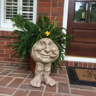 Muggly The Face Grandpa Old Hickory Statue Planter by HomeStyles