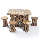 Chardon 5 Piece Solid Wood Dining Set
