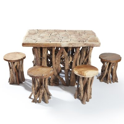 Chardon 5 Piece Solid Wood Dining Set by Millwood Pines Fresh