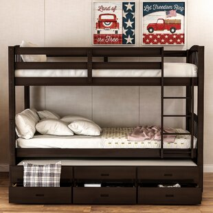 Teplin Twin over Twin Bunk Bed with Trundle