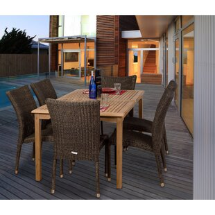 Beachcrest Home Elsmere 7 Piece Teak Dining Set