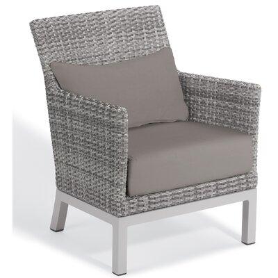 Brayden Studio Saleem Club Patio Chair with Cushions Color: Stone