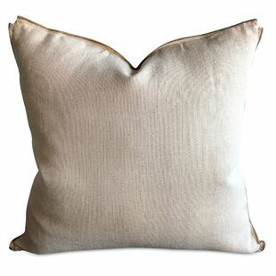 Haines French Country Burlap Luxury Decorative Pillow Cover