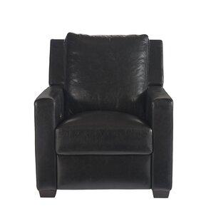 Mandel Leather Recliner by Red Barrel Studio