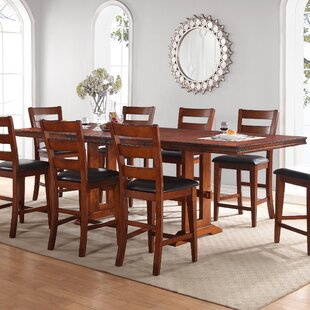Compare prices Magellan Solid Wood Dining Table By Loon Peak