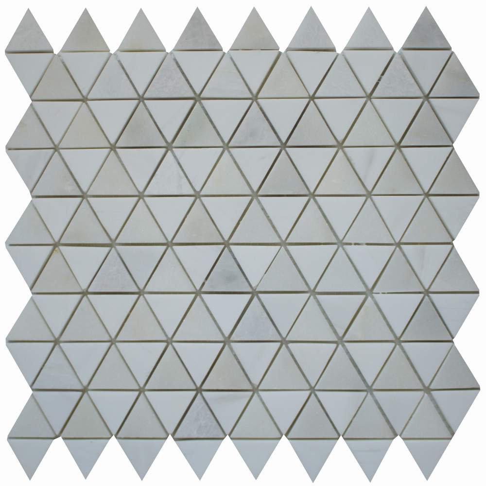 Cordelio Diamantes 0 38 X Marble Mosaic Tile In White Calacatta Wayfair
